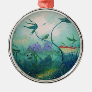 Underwater World Gifts Silver-Colored Round Decoration