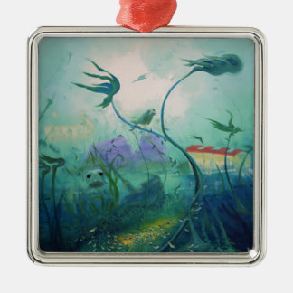 Underwater World Gifts Silver-Colored Square Decoration