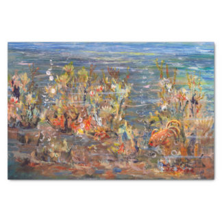 Underwater World Tropical Fish Aquarium Painting Tissue Paper