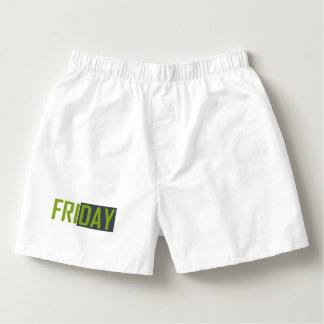 Underwear to Friday Boxers