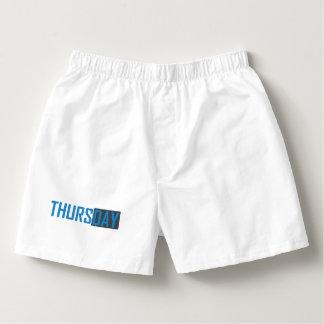 Underwear to Thursday Boxers