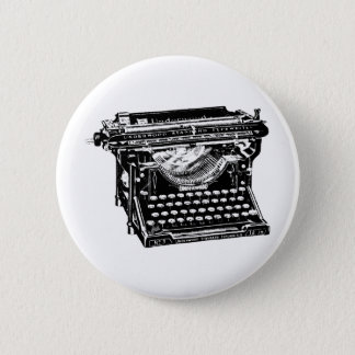 Underwood Typewriter Writer 6 Cm Round Badge