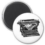 Underwood Typewriter Writer 6 Cm Round Magnet