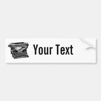 Underwood Typewriter Writer Bumper Sticker