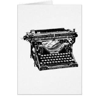 Underwood Typewriter Writer Card