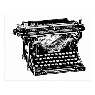 Underwood Typewriter Writer Postcard