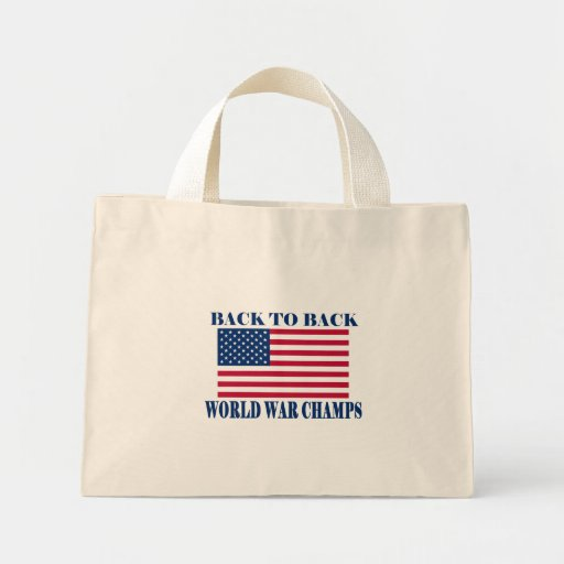 Undisputed World War Champions, American Flag Tote Bags