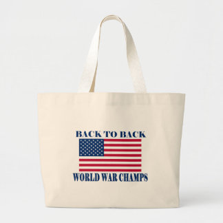 Undisputed World War Champions, American Flag Jumbo Tote Bag