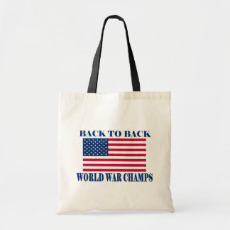 Undisputed World War Champions, American Flag Budget Tote Bag