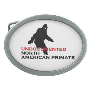 Undocumented North American Primate Oval Belt Buckles