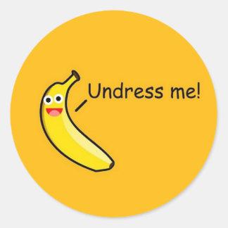 Undress Me Banana Round Sticker