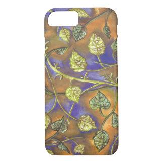 undulating raspberry leaves iPhone 7 case
