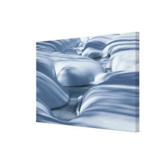 Undulating Snowbanks and Frozen Stream 2 Canvas Print