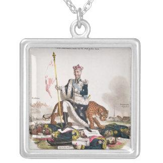 Une fois sacre rien ne le fut pour moi' silver plated necklace