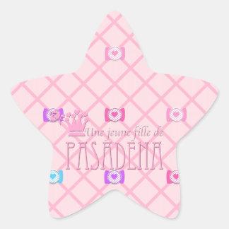 Une jeune fille de PASADENA Star Sticker
