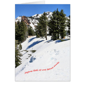 Une scène d'hiver pour Noël 3 Français Card
