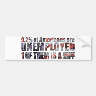 unemployed graphic designer bumper stickers