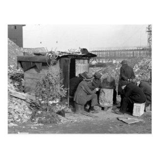 Unemployed & Homeless 1938 Postcard