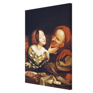 Unequal Love or, The Mismatched Couple Stretched Canvas Print