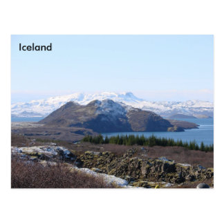 UNESCO site of Thingvellir National Park, Iceland Postcard