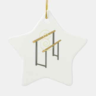 Uneven Bars Ceramic Star Decoration