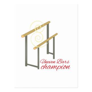 Uneven Champion Postcard