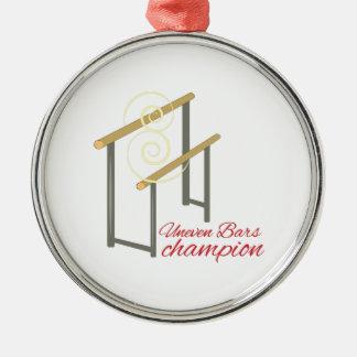 Uneven Champion Silver-Colored Round Decoration