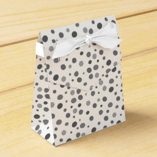 Uneven,colorful, fun , cool polka dots favour box
