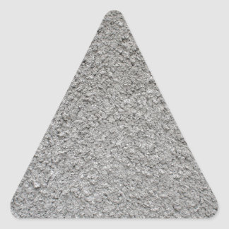 Uneven surface of the gray cement triangle sticker