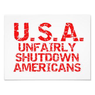 Unfairly Shutdown Americans Art Photo