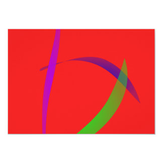 Unfettered Scarlet Abstract Art Cards