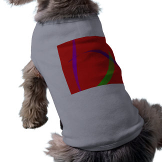 Unfettered Scarlet Abstract Art Pet Tshirt