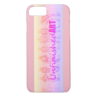 Unfinished Art Sketch pastel pink phone case
