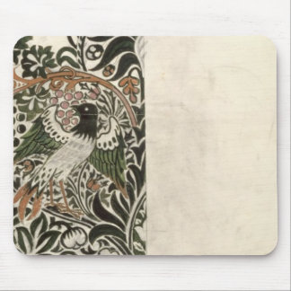 Unfinished 'Bird and Vine' wood block design for w Mouse Mat
