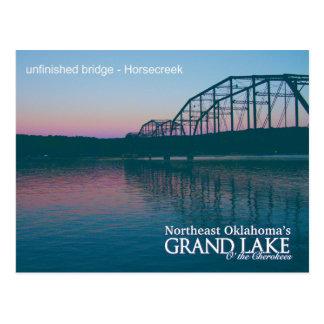 Unfinished Bridge...Grand Lake OK  post card