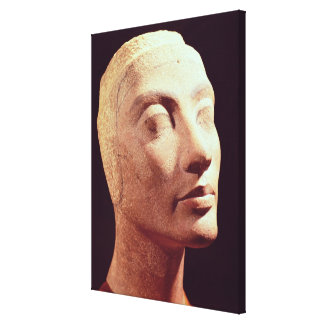 Unfinished head of Nefertiti, New Kingdom Canvas Print