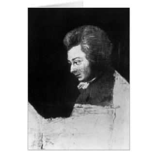 Unfinished Portrait of Wolfgang Amadeus Mozart Greeting Card