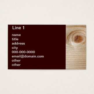 Unfinished Wood Brown Background Business Card
