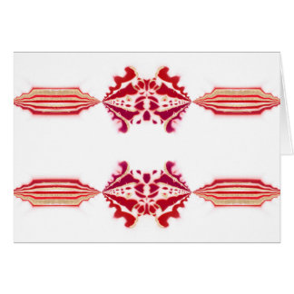 Unforgetable Red White Magenta Gold Flourish NT Card