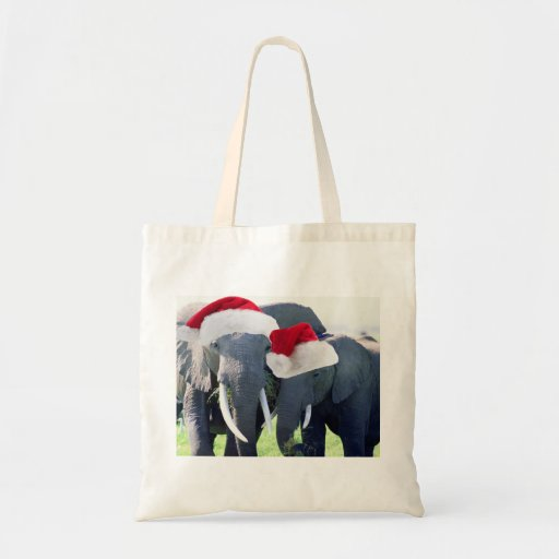 Unforgettable Elephant Christmas Canvas Bags