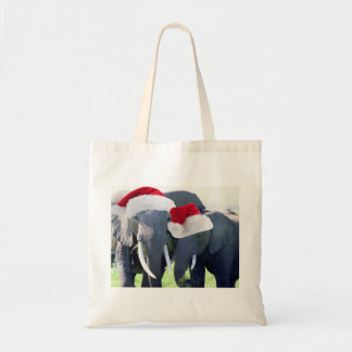 Unforgettable Elephant Christmas Canvas Bags