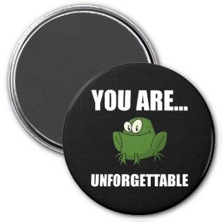 Unforgettable Frog 7.5 Cm Round Magnet