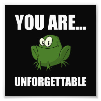 Unforgettable Frog Photo Print