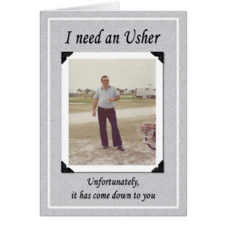 Unfortunate Ushers? Greeting Card