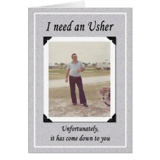 Unfortunate Ushers? Greeting Cards