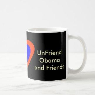 UnFriend Obama and Friends Basic White Mug