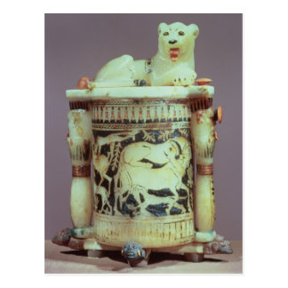 Unguent jar with a figure of a the king as a lion post card