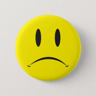 Unhappy Face 6 Cm Round Badge