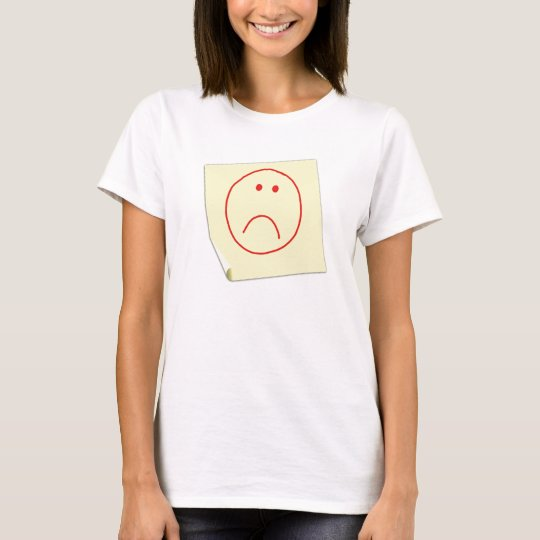 Unhappy Face Post It Note T-Shirt