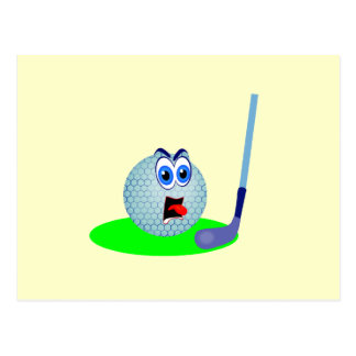 Unhappy Golf Ball T-shirts and Gifts Postcard